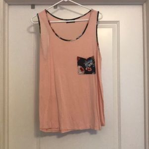 Pink and floral tank